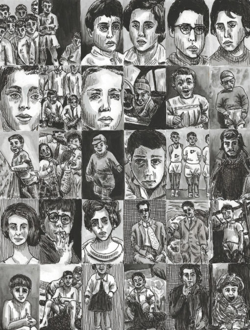 drawings of old pictures