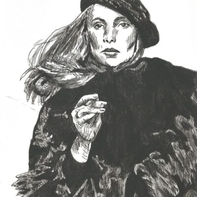 Joni Mitchell drawing