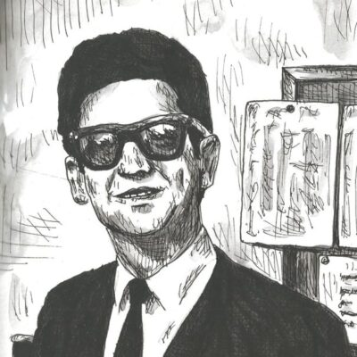 Roy Orbison drawing