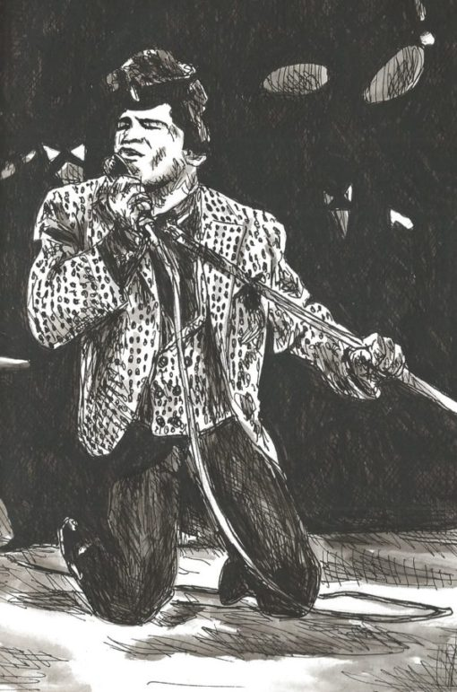 James Brown drawing
