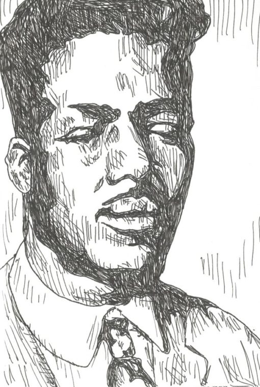 Blind Willie Johnson drawing