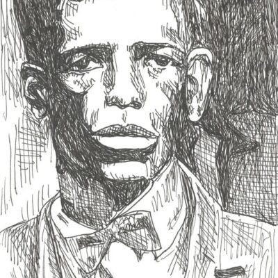 Charley Patton drawing