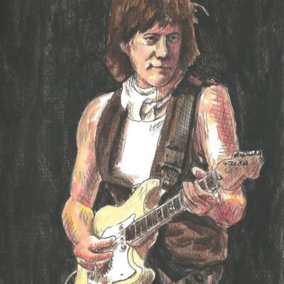 Jeff Beck drawing
