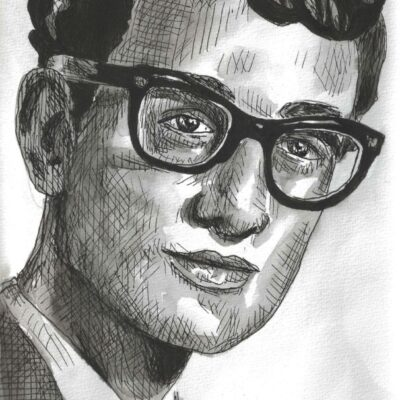 Buddy Holly drawing