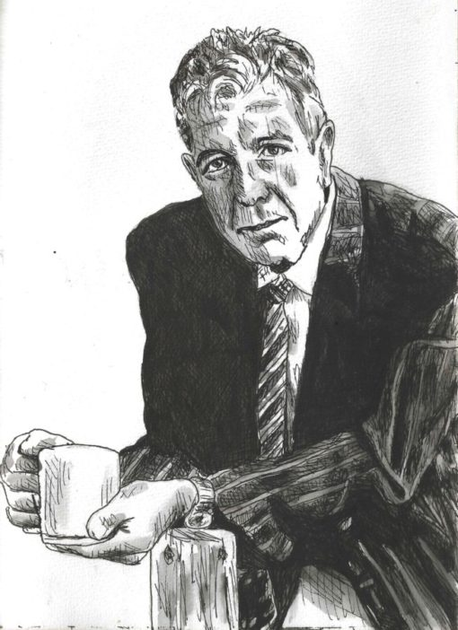 Leonard Cohen drawing