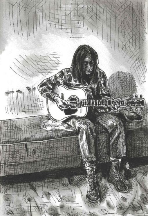 Neil Young drawing